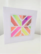 Load image into Gallery viewer, Geo Square | Pastel Candy Cane