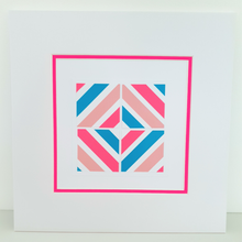 Load image into Gallery viewer, Pink Geo 3 | Kaleido Neon + Pastel