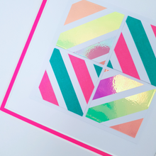 Load image into Gallery viewer, Pink Geo 4 | Kaleido Neon + Holographic