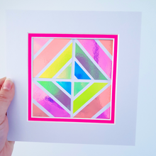 Load image into Gallery viewer, Pink Geo 7 | Kaleido Holographic