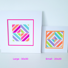 Load image into Gallery viewer, Orange Geo 3 | Kaleido Neon/Holographic/Pastel