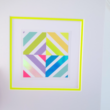 Load image into Gallery viewer, Yellow Geo 1 | Kaleido Neon/Holographic/Pastel