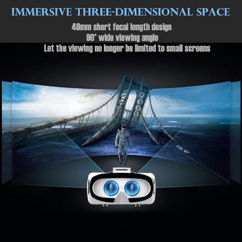 VR Headset Original 3D Glass Box Stereo Headset for IOS/Android