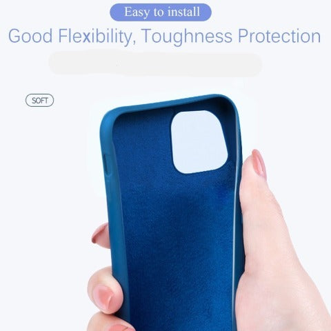 iPhone Case Liquid Silicone Case For iPhone 11 Pro/7/8/6/XR Shockproof Case
