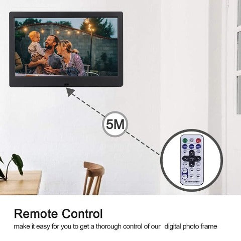 10 inch HD Digital Photo Frame with Wireless Remote Control Music MP3