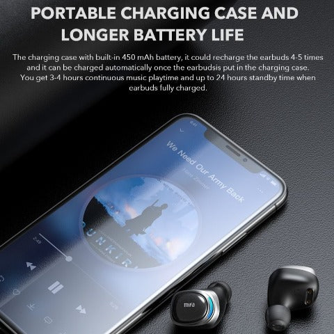 TWS Earbuds Wireless Earphone Touch Control Stereo Cordless Headset With Charging Box