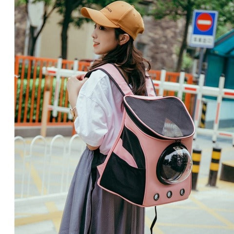 Cat Backpack Window Astronaut Cat Bag Breathable Portable Pet Carrier Backpack