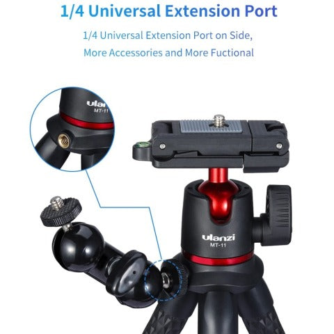 iPhone Tripod Flexible Octopus Tripod Portable 2 in 1 Tripod for Smartphone/DSLR/SLR