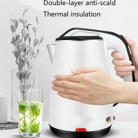 Electric Kettle - Stainless Steel Cordless Portable Heating Water Boiler Teapot