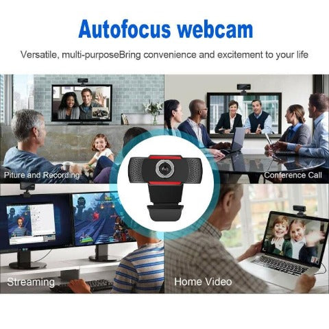 Webcam Full HD 1080P Digital Laptop/Computer Cam with Microphone
