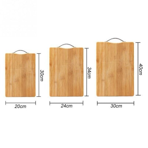 Wooden Chopping Board bamboo square hangable thick natural cutting board