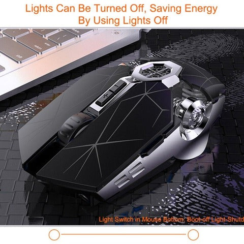 Wireless Gaming Mouse Rechargeable Mouse 2.4G USB Optical Ergonomic Mouse