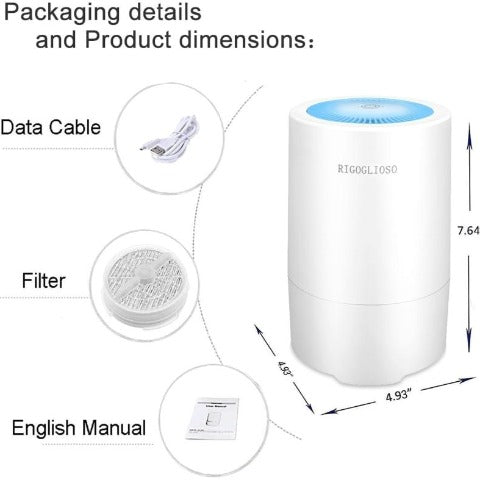 Air Purifier for Home with True HEPA Filter Portable Purifier
