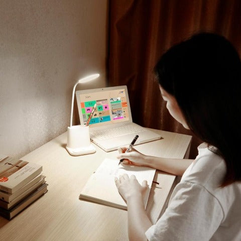 LED Desk Lamp Eye Caring Table Lamp USB Rechargeable Dimmable Touch Lamp