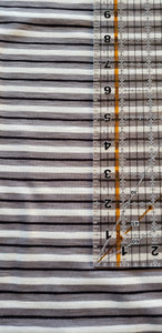 Striped Black / White / Gray Rayon fabric
