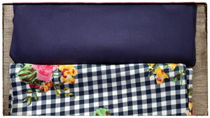 Navy Double brushed poly fabric