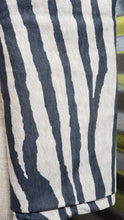 Load image into Gallery viewer, Zebra Black & Oatmeal Rayon Spandex fabric