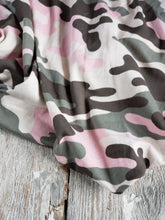 Load image into Gallery viewer, Camo Seaweed Sage and Pink DBP fabric