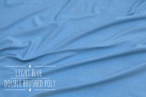 Baby Blue Double Brushed Poly fabric
