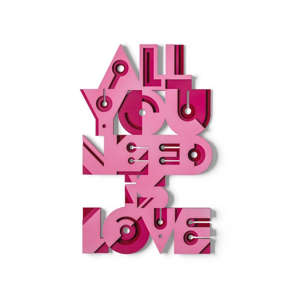 ALL YOU NEED IS LOVE - panneau mural en bois - Umasqu
