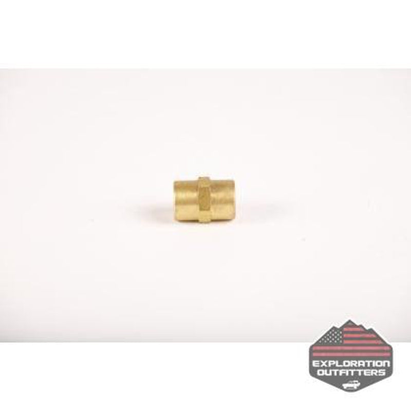 "ExtremeAire 1/4"" Brass Female to Female Coupler - ExplorationOutfitters.com"
