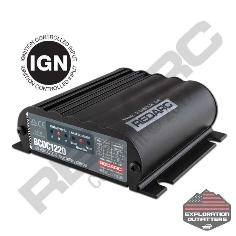 RedARC 20 Amp BCDC - Ignition Control - ExplorationOutfitters.com