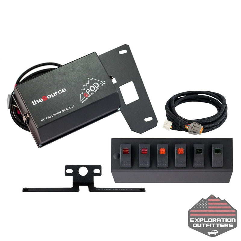 SPOD 09-18 Jeep JK 6 Switch Panel - ExplorationOutfitters.com