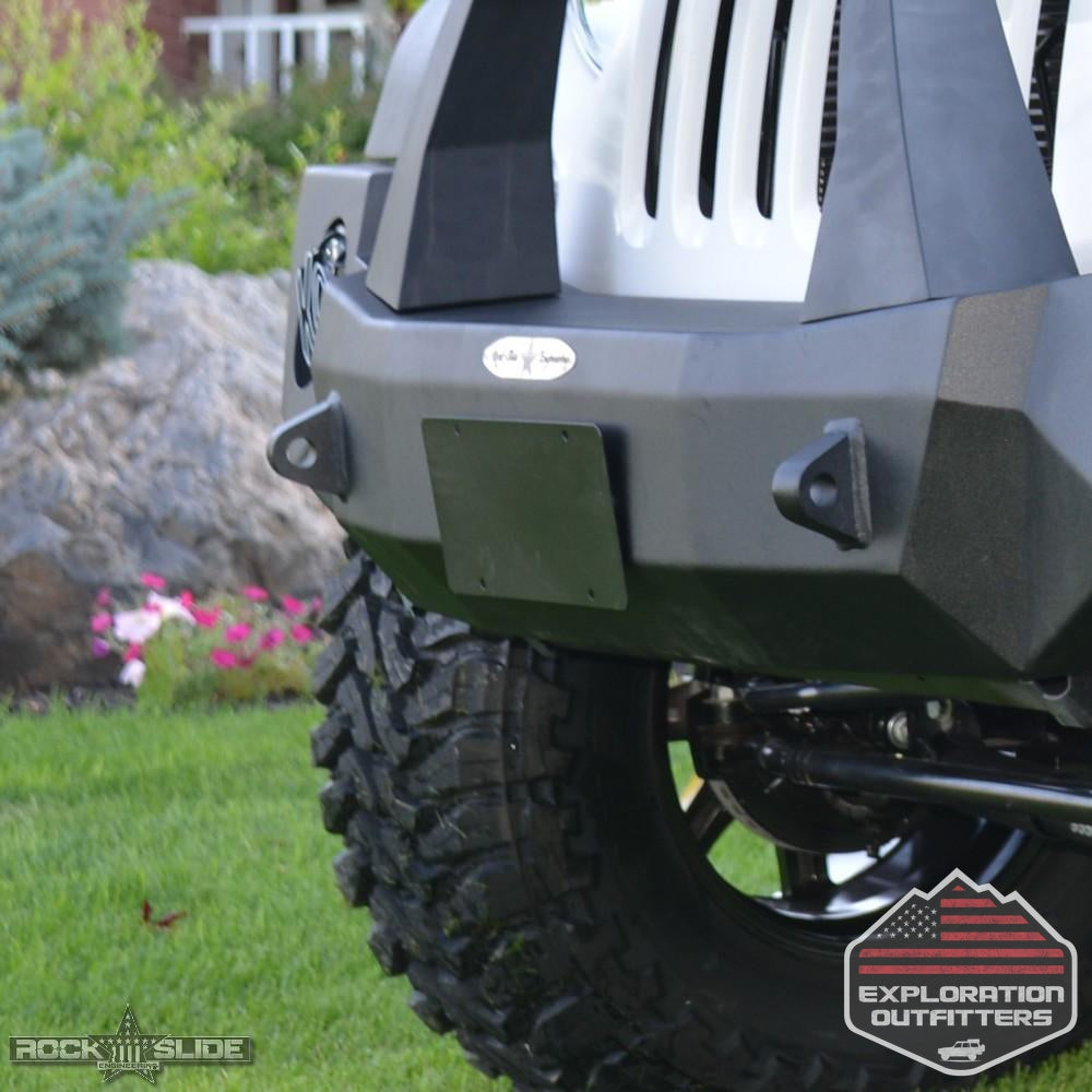Jeep-License-Plate-Mount-For-Rigid-Series-Front-Bumper-Bolt-On--by-Rock-Slide-Engineering