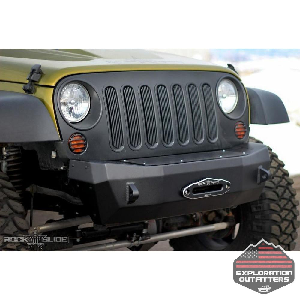 Winch Delete Plate For Rigid Series Front Bumper Bolt On -by Rock Slide Engineering-Rock Slide Engineering-Explorationoutfitters.com