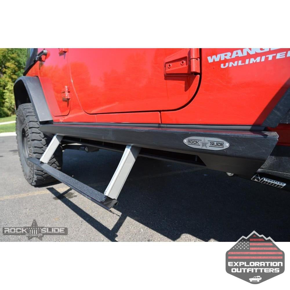 Step-Slider-Skid-Plate-Kit-for-2007-18-Jeep-JK-4-Door--by-Rock-Slide-Engineering