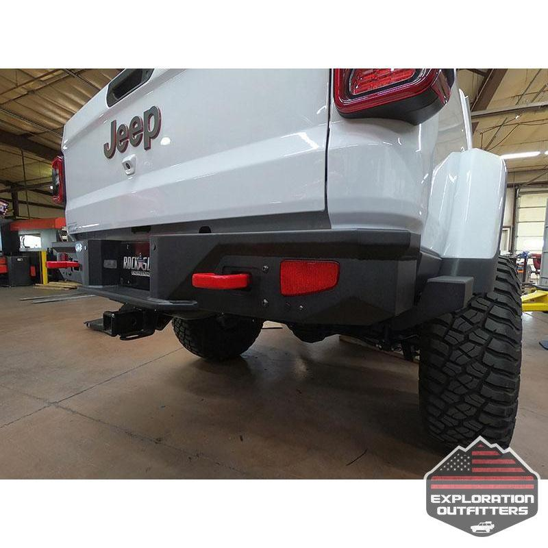 Gladiatror-Rear-Rock-Sliders-for-20-Pres-Jeep-Gladiator-JT-Steel-Powdercoat--by-Rock-Slide-Engineering