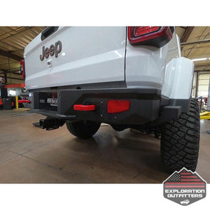 Gladiatror Rear Rock Sliders for 20-Pres Jeep Gladiator JT Steel Powdercoat -by Rock Slide Engineering-Rock Slide Engineering-Explorationoutfitters.com