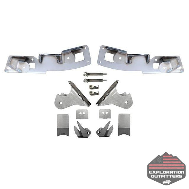 Jeep JK Rear High Clearance Long Arm Frame and Axle Bracket 07-18 Wrangler JK Set EVO Mfg - Explorationoutfitters.com