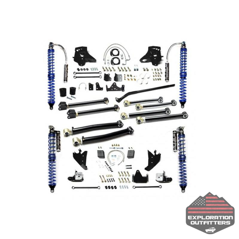 Jeep JK Coil Over Upgrade Kit 07-18 Wrangler JK Enforcer Pro Stage 3 Black EVO Mfg - Explorationoutfitters.com