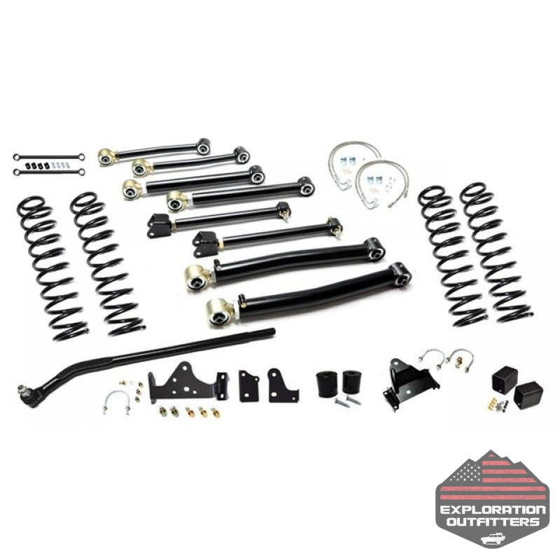 Jeep JK Enforcer Kit 4.0 Inch with Draglink Flip Stage 3 07-18 Wrangler JK EVO Manufacturing - Explorationoutfitters.com