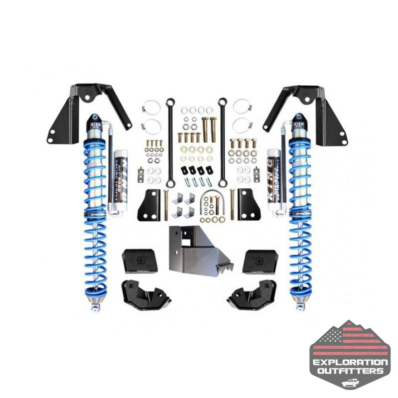 Jeep JL NV2514 Rear Bolt-On Coilover Kit 18-Present Wrangler JL Black EVO Manufacturing - Explorationoutfitters.com