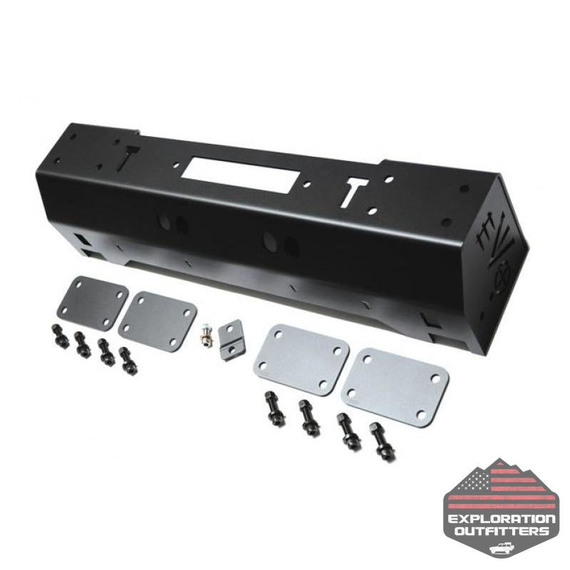 1/4 Pounder Front Bumper for Jeep Wrangler JK JL Gladiator JT Black EVO Mfg - Explorationoutfitters.com