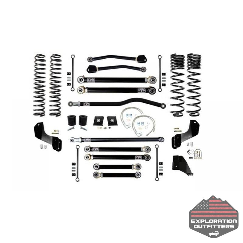 Jeep Gladiator JT 6.5 Inch Lift Kit 2020-Pres Gladiator Enforcer Overland Lift Stage 4 Plus EVO Mfg - Explorationoutfitters.com