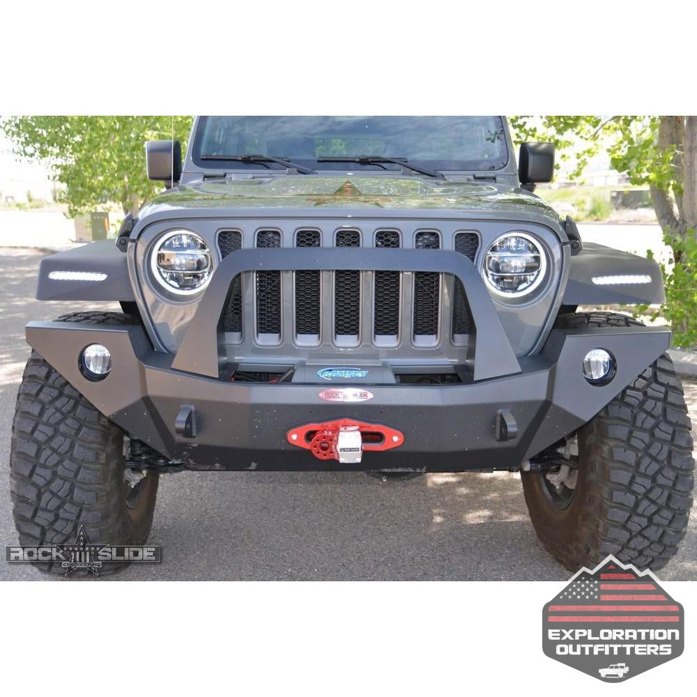 Jeep-JL/JT-Full-Front-Bumper-For-18-Pres-Wrangler-JL/Gladiator-Rigid-Series-Complete-With-Winch-Plate--by-Rock-Slide-Engineering