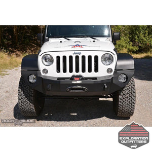Jeep-JK-Full-Front-Bumper-For-07-18-Wrangler-JK-With-Winch-Plate-No-Bull-Bar-Black-Powdercoated-Rigid-Series--by-Rock-Slide-Engineering