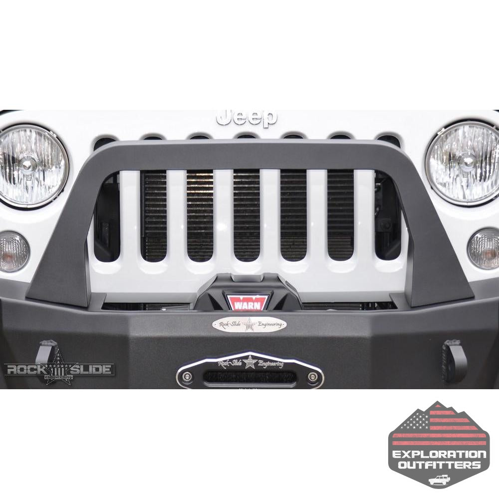 Jeep-JK-Bull-Bar-For-07-18-Wrangler-JK-Rigid-Series-Front-Bumper-Only-Black-Powdercoat--by-Rock-Slide-Engineering