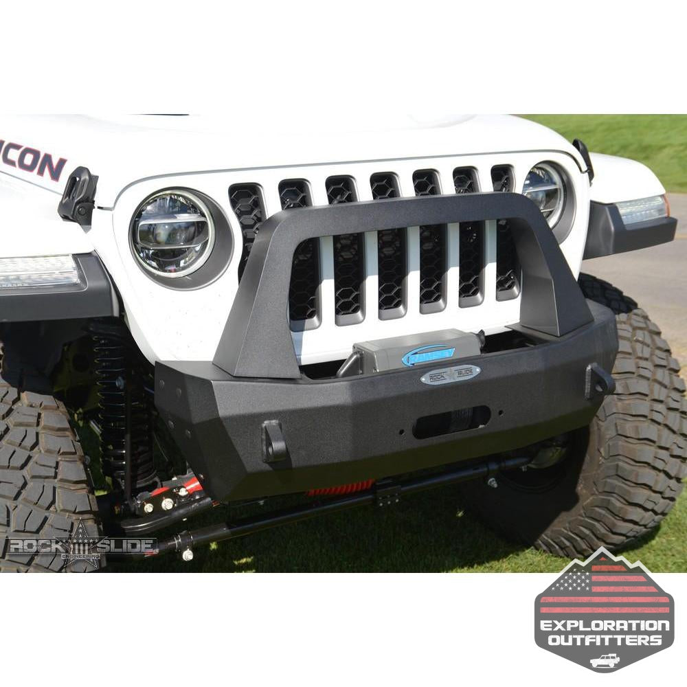 Jeep-JL-Shorty-Front-Bumper-For-18-Pres-Wrangler-JL-Complete-With-Winch-Plate-Rigid-Series--by-Rock-Slide-Engineering