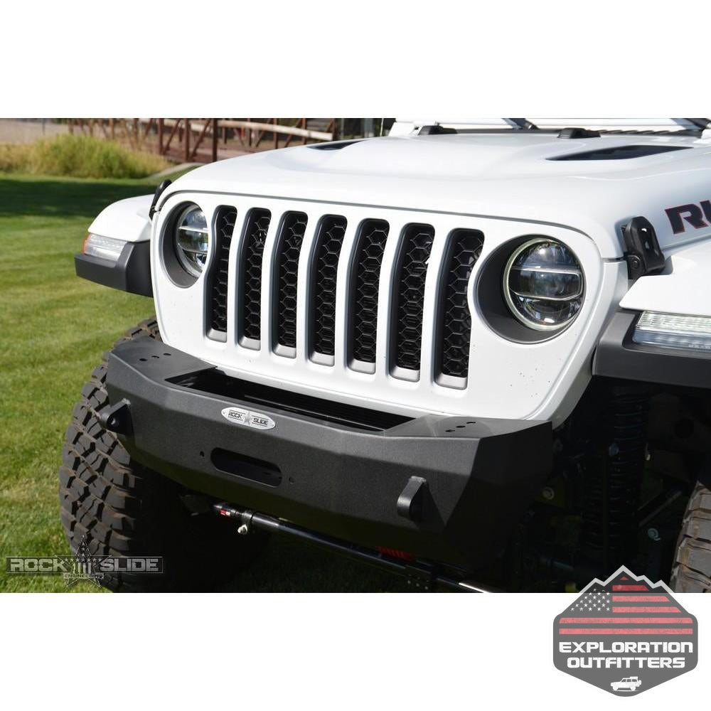 Jeep-JL-Shorty-Front-Bumper-For-18-Pres-Wrangler-JL-With-Winch-Plate-No-Bull-Bar-Rigid-Series--by-Rock-Slide-Engineering