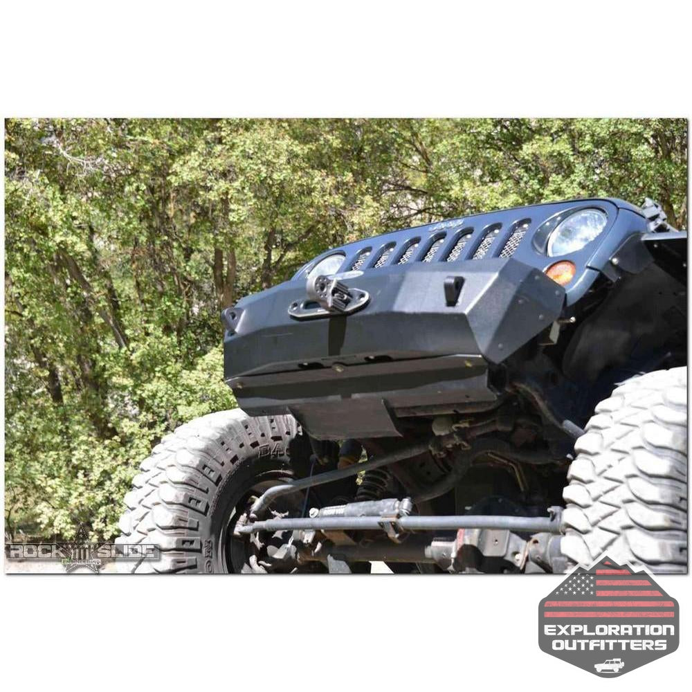 Jeep-JK-Front-Bumper-Skid-Plate-For-07-18-Wranger-JK-Rigid-Series-Steel-Powdercoat-Black--by-Rock-Slide-Engineering