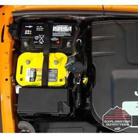 M.O.R.E. Dual Battery Tray - 2012 - 2017 Jeep Wrangler