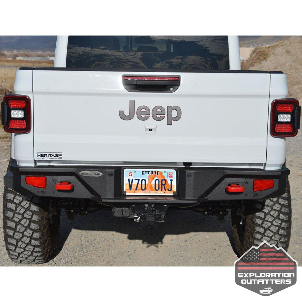 Gladiator-Full-Rear-Bumper-For-20-Pres-Jeep-Gladiator-No-Tire-Carrier-Rigid-Series--by-Rock-Slide-Engineering