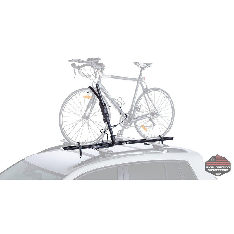 rhino rack roof rack accessories explorationoutfitters Jeep Comanche hybrid roof rack bike carrier by rhino rack