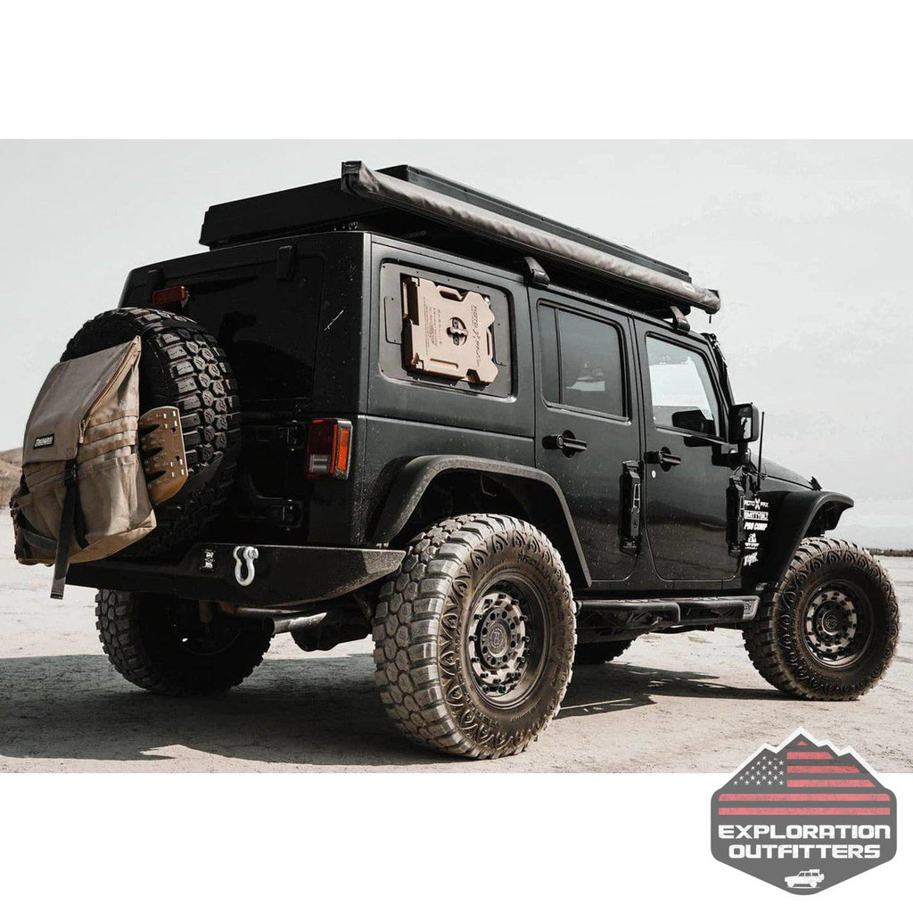 Blackout Window Storage for Jeep Wrangler - by Rebel Off Road-Rebel Off Road-Explorationoutfitters.com