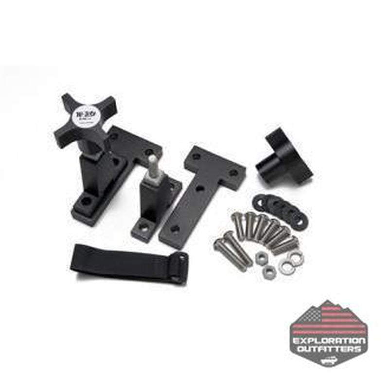 Hi-Lift Jack Jeep Wrangler Hood Mounts - ExplorationOutfitters.com