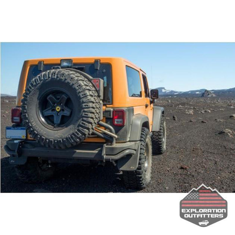 AEV Rear Bumper/Tire Carrier - Jeep Wrangler - ExplorationOutfitters.com